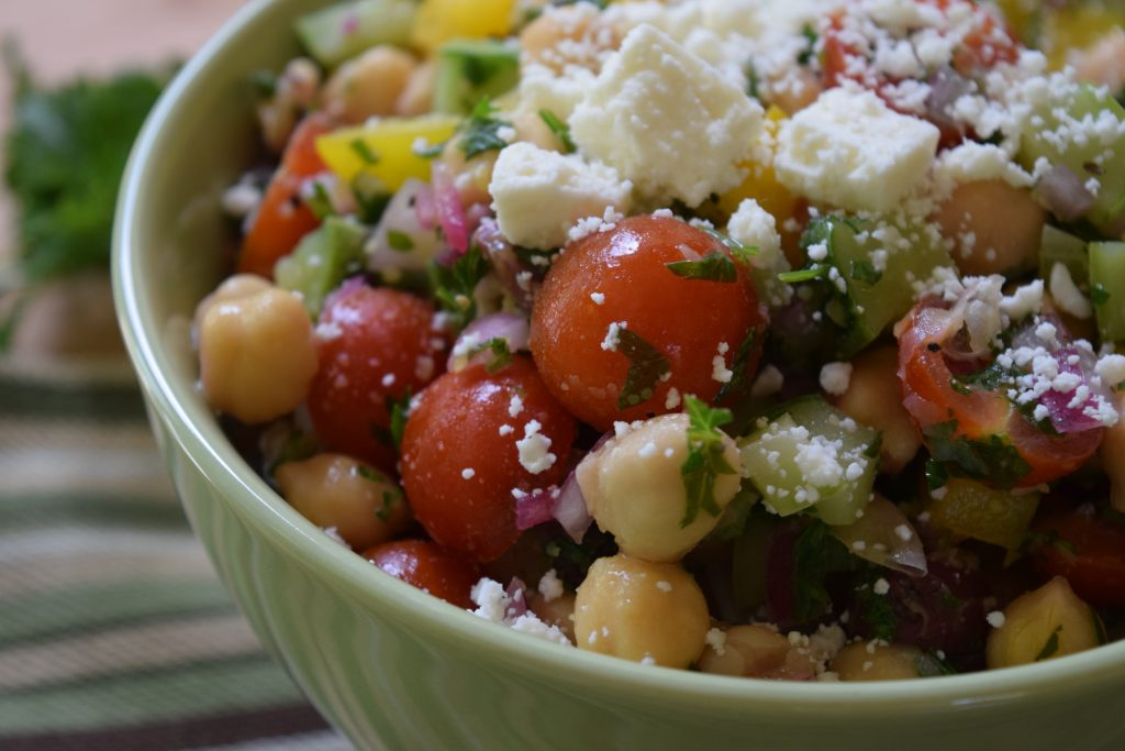 Mediterranean Chickpea Salad - Food & Nutrition Solutions by Jill