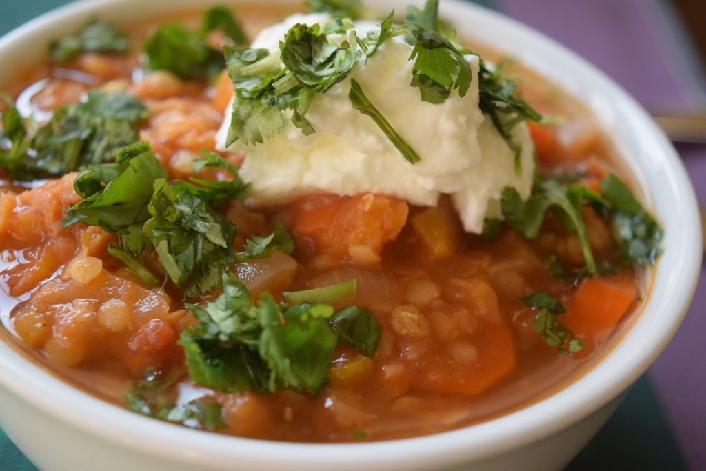 Red Lentil Stew with Cliantro