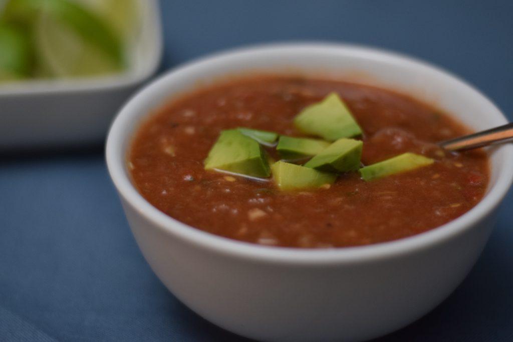 Gazpacho recipe with avocado