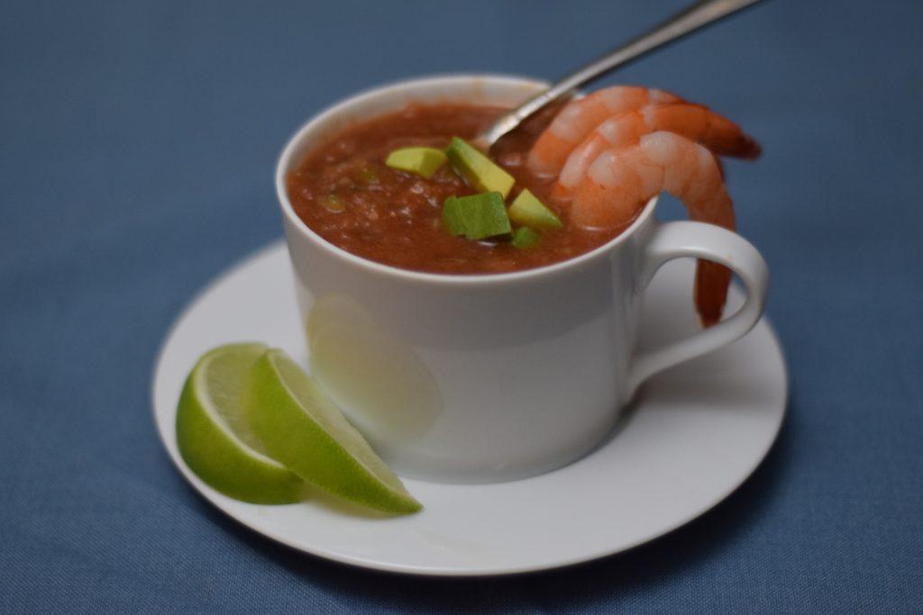 Gazpacho recipe with shrimp