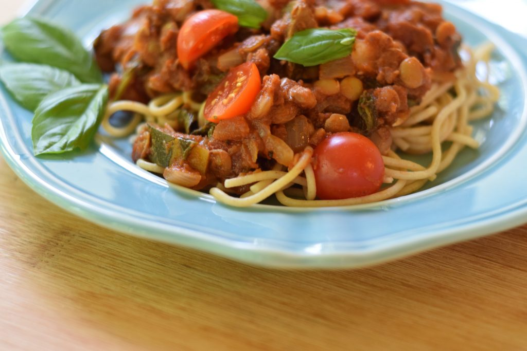Vegetarian Pasta Sauce with lentils Recipe