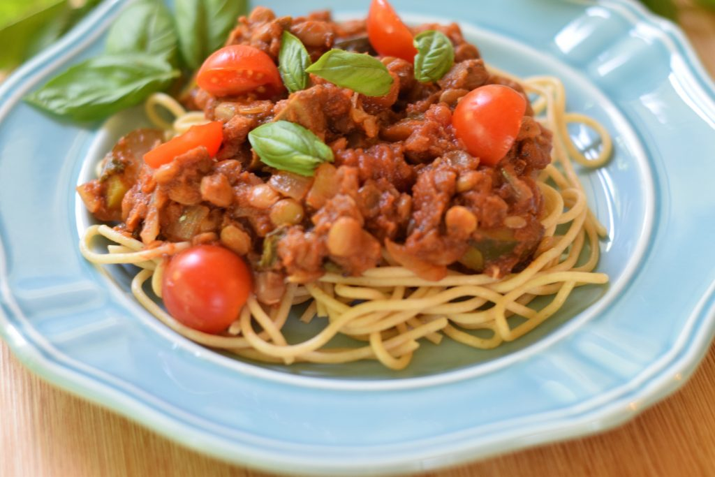 healthy pasta sauce with lentils recipe