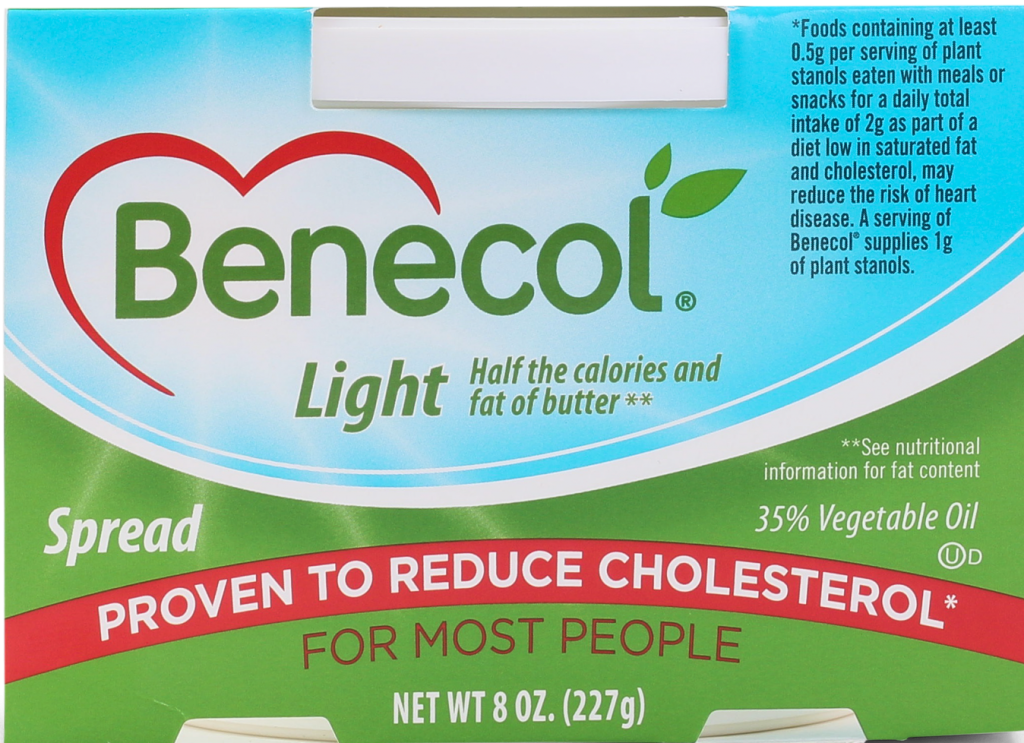 Benecol spread with phytosterols to lower cholesterol