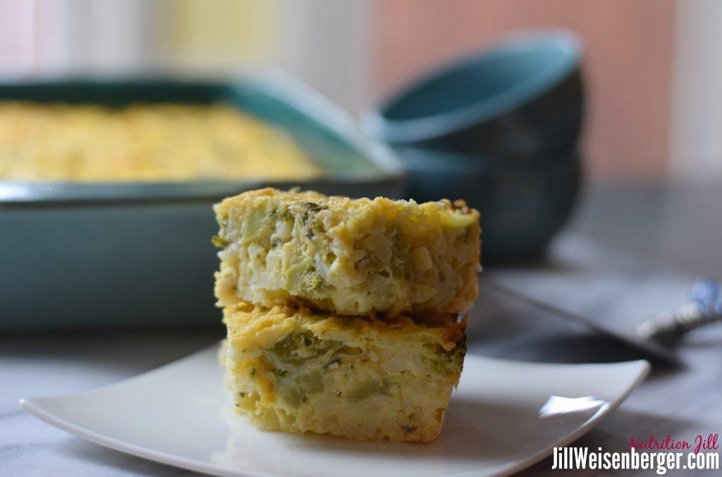 Healthy comfort food: hashbrown casserole