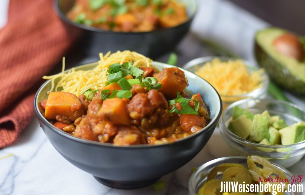 sweet potato lentil chili recipe