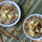 Creamy Oats and Lentils with Sweetly Spiced Apples: A Healthy Breakfast