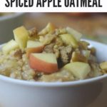Healthy Breakfast Oatmeal Bowl with Text