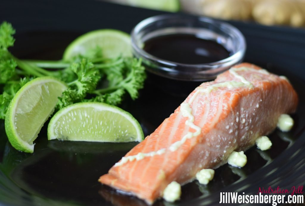 Easy wasabi salmon recipe