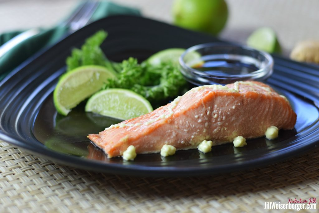 Easy healthy wasabi salmon recipe with sauce