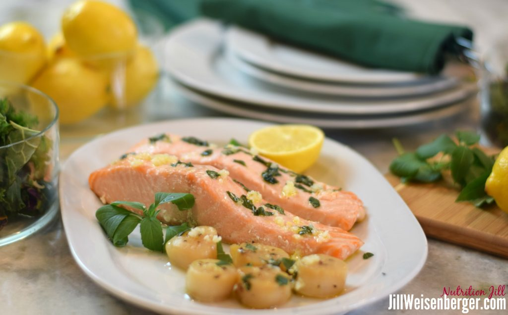 healthy lemon basil sauce for fish