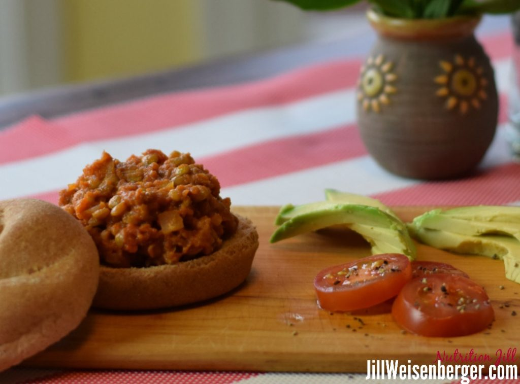 Healthy lentil sloppy joes