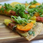Tomato and Goat Cheese-Walnut Pesto Flatbread