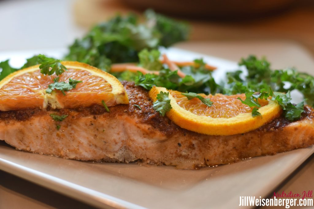 easy baked orange salmon