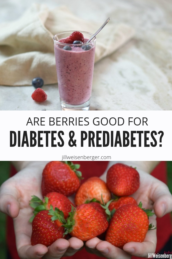 Are berries good for diabetes and prediabetes? Find out what the research has to say about it | @nutritionjill | #nutritionjill | #nutrition | #diabetes | #prediabetes | #berries | #health