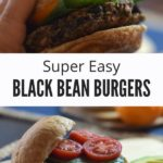 Black Bean Burger Recipe with Text Overlay