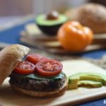 Black bean burger platter
