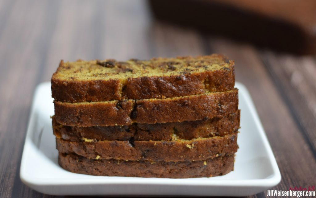 healthy comfort food white whole wheat chocolate chip banana bread
