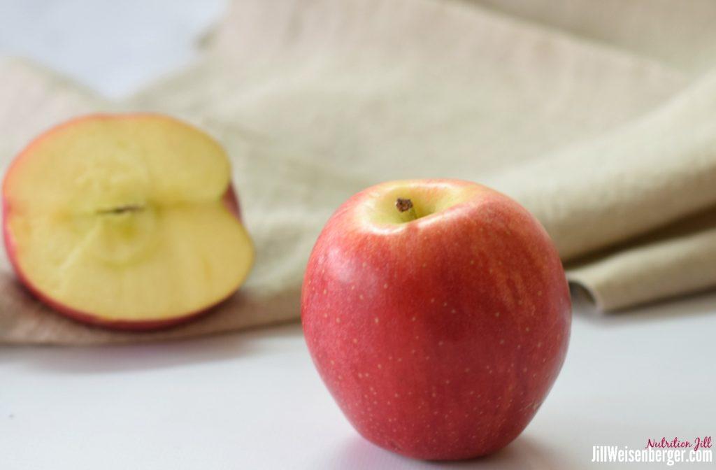 heart-healthy apple and cut apple