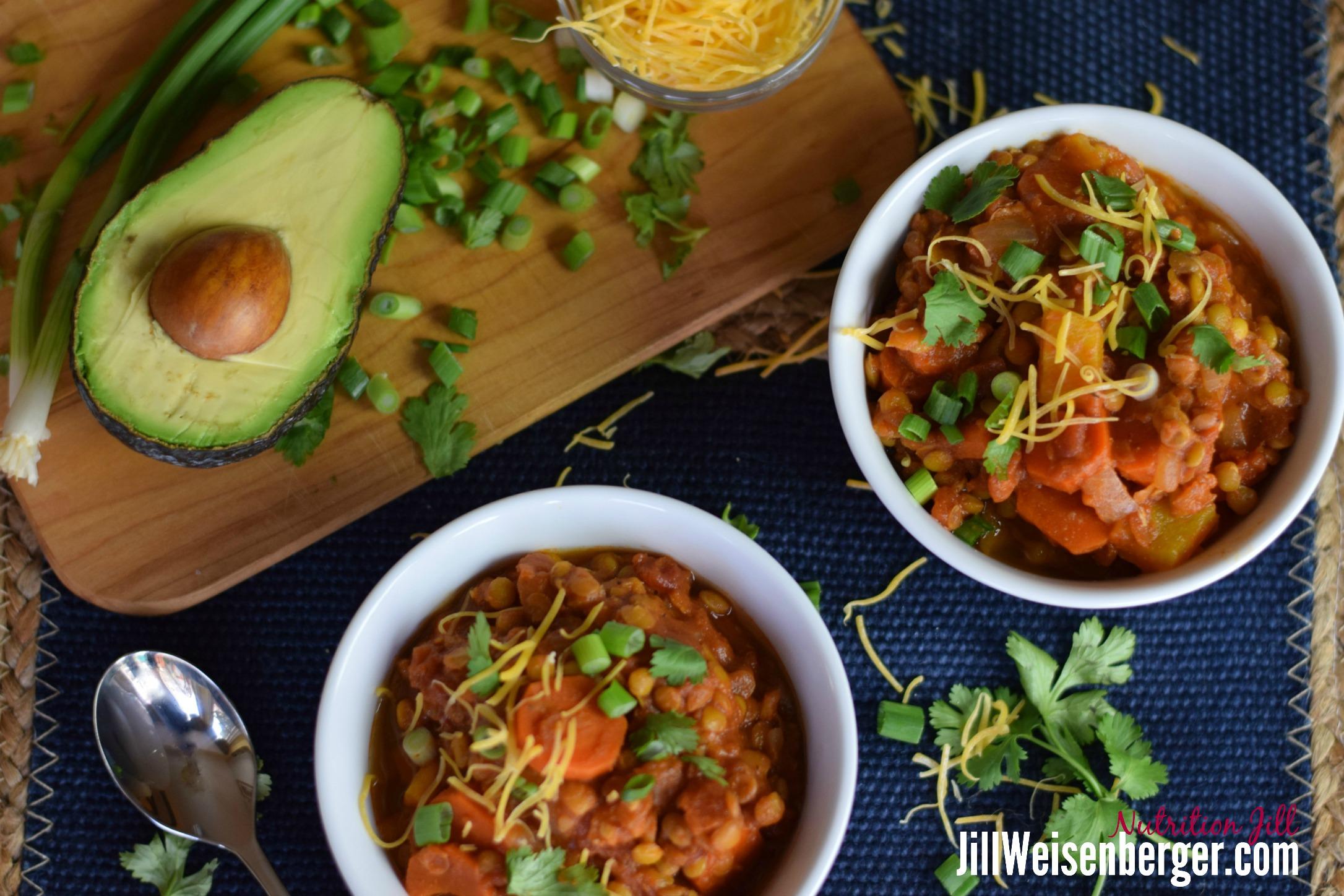 get fiber in lentil chili