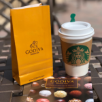 craving chocolate: Godiva chocolate and Starbucks