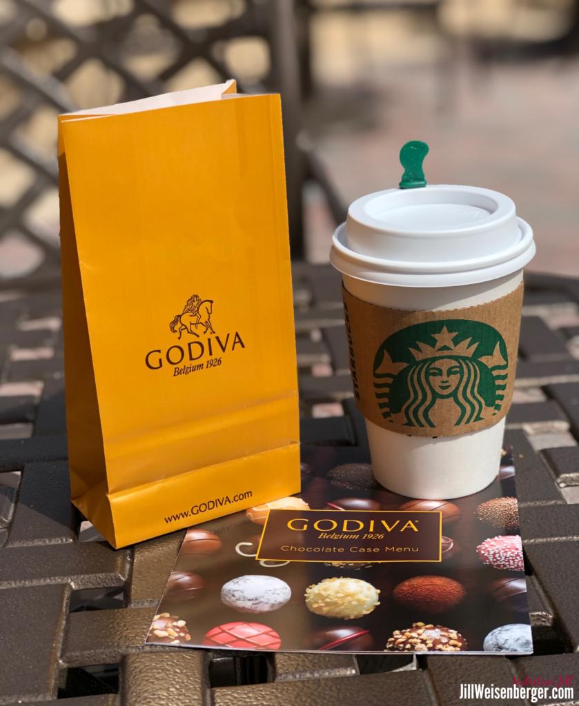 craving chocolate: Godiva chocolate and Starbucks