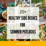 Healthy Side Dishes Collage with Text