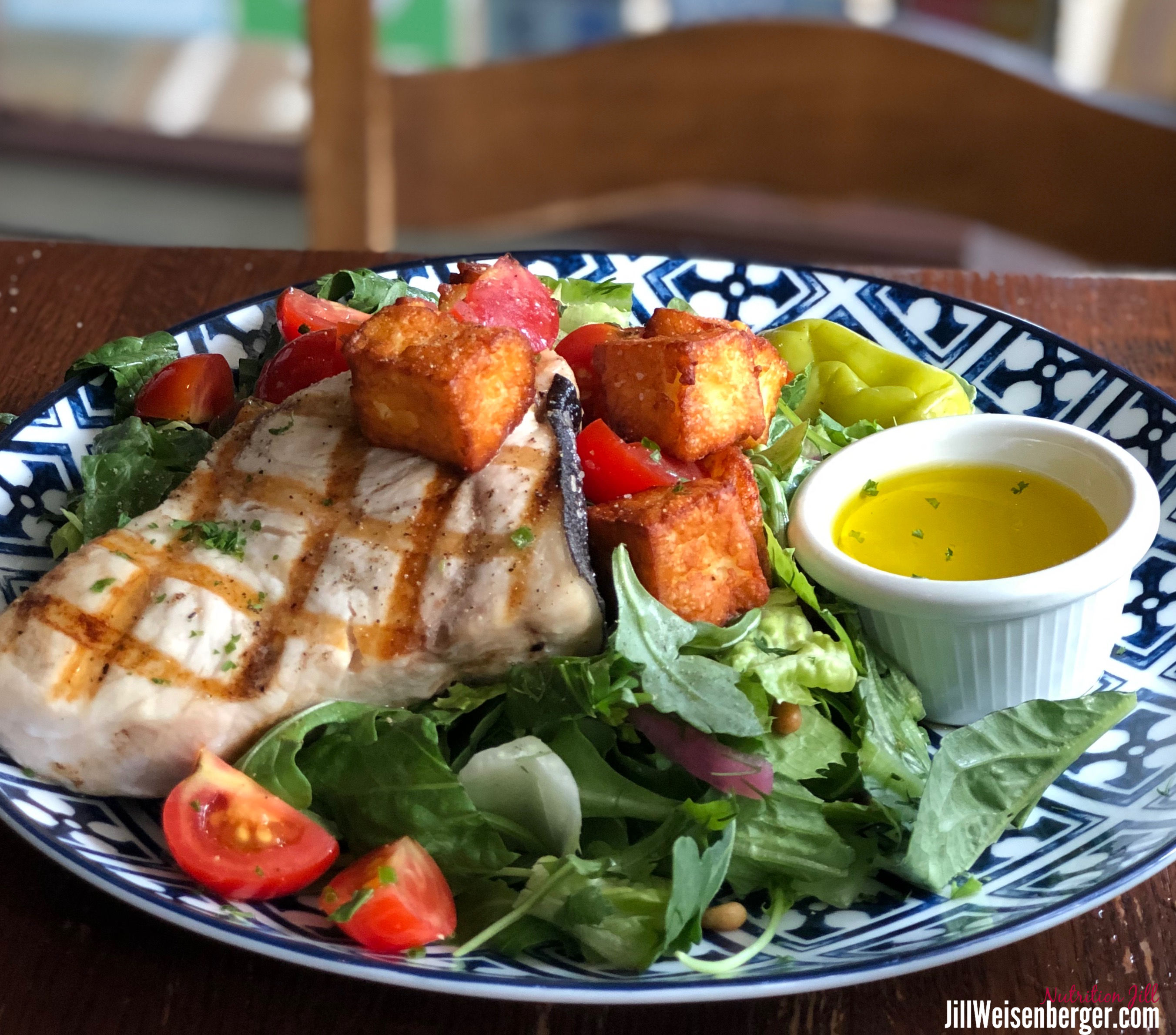 healthy fish and salad for prediabetes action plan