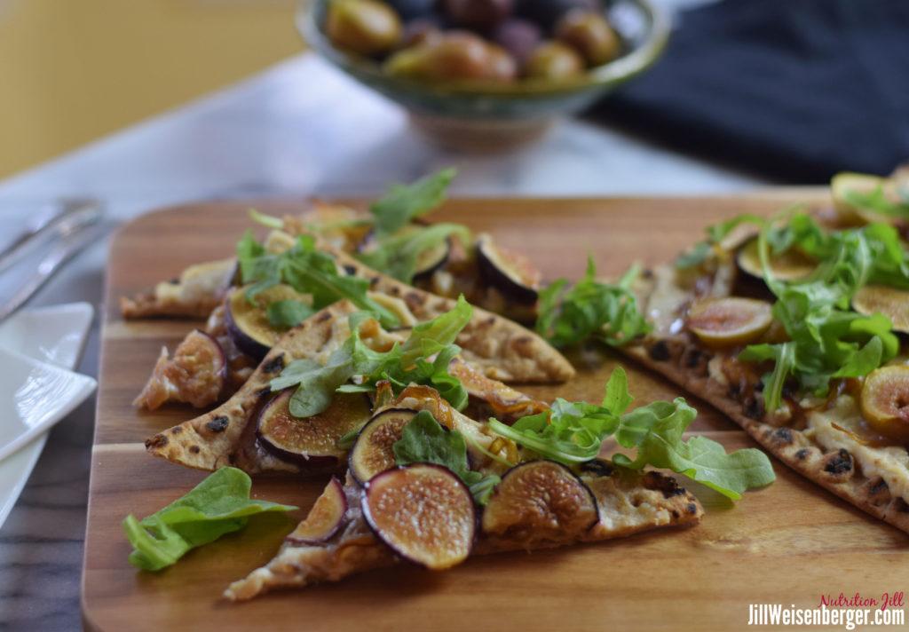 fig and ricotta flatbread