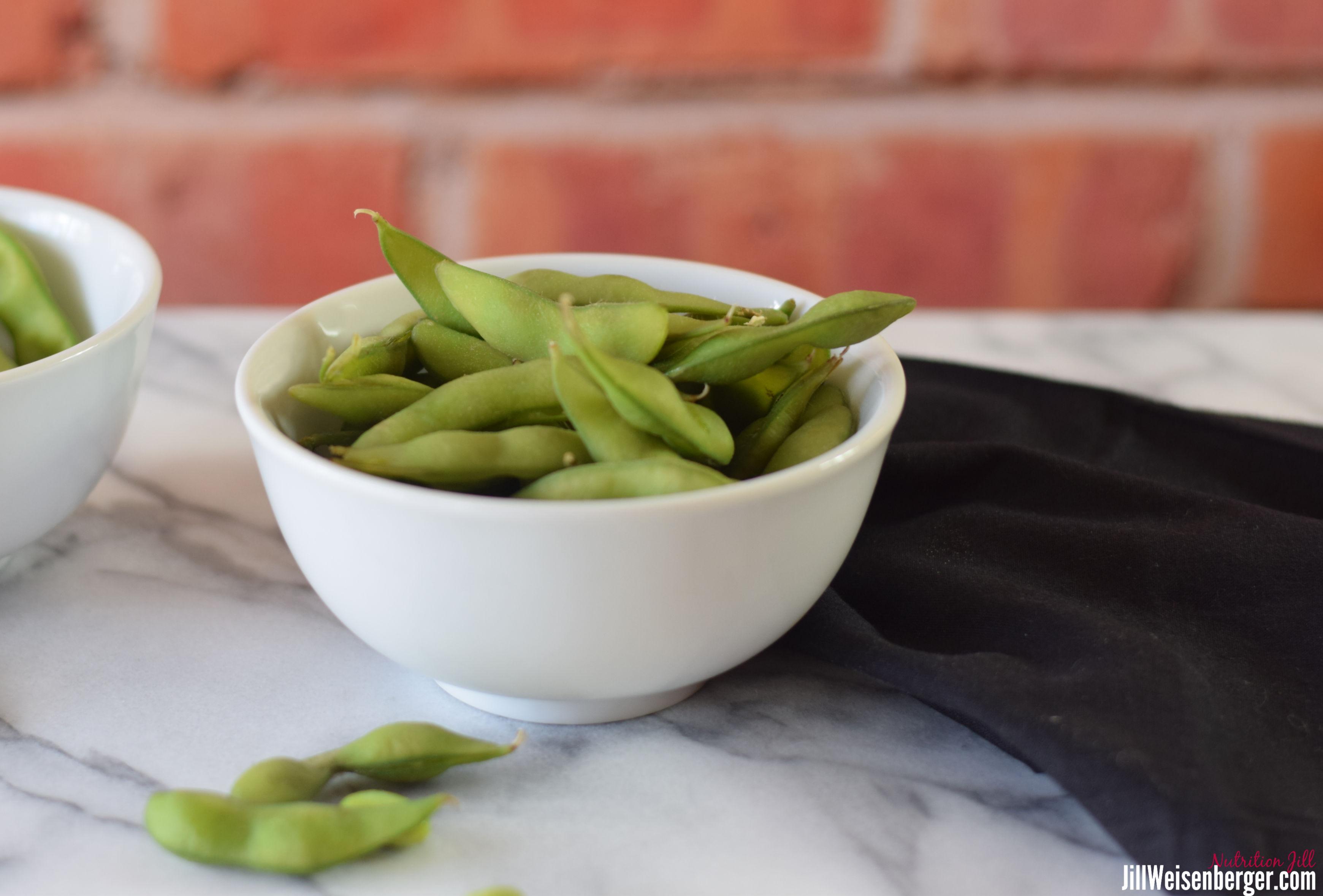 2 bowls of edamame beans