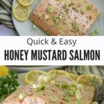 Honey Mustard Salmon Recipe Collage with Text