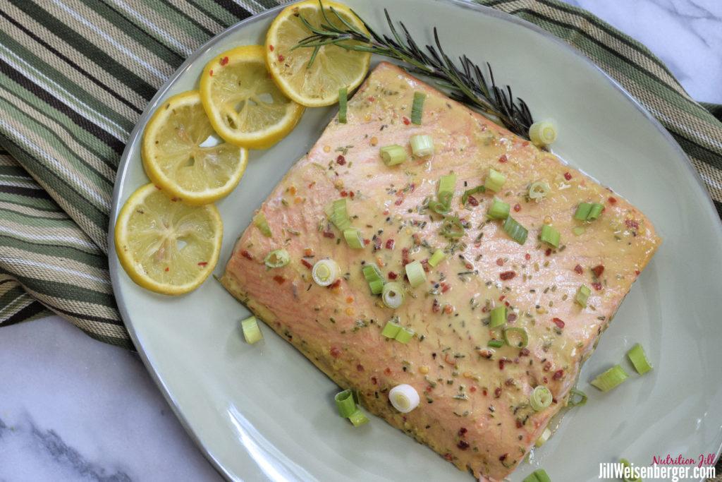 honey mustard salmon overhead