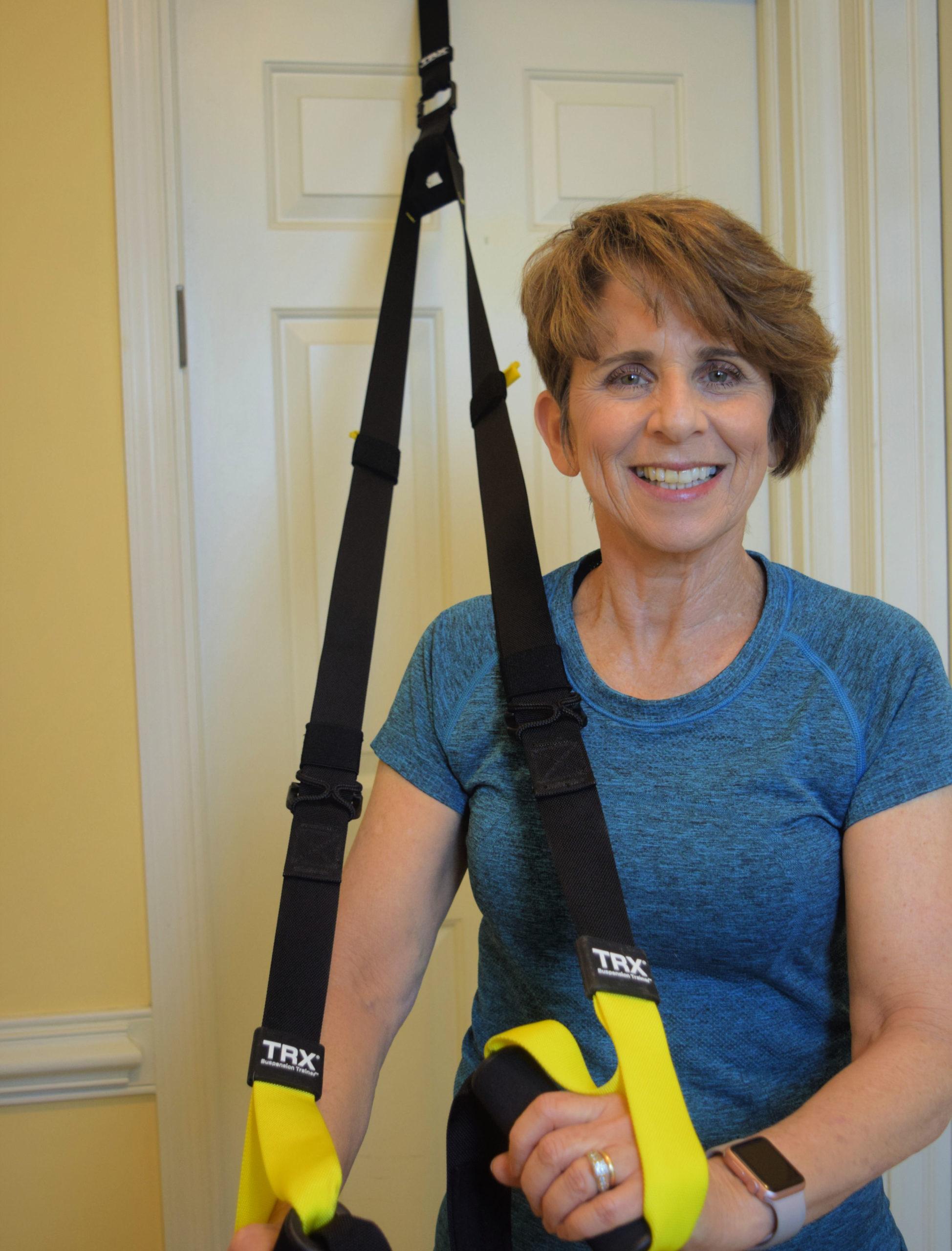 TRX straps for exercise