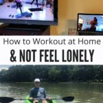 How to Workout at Home Collage with Text