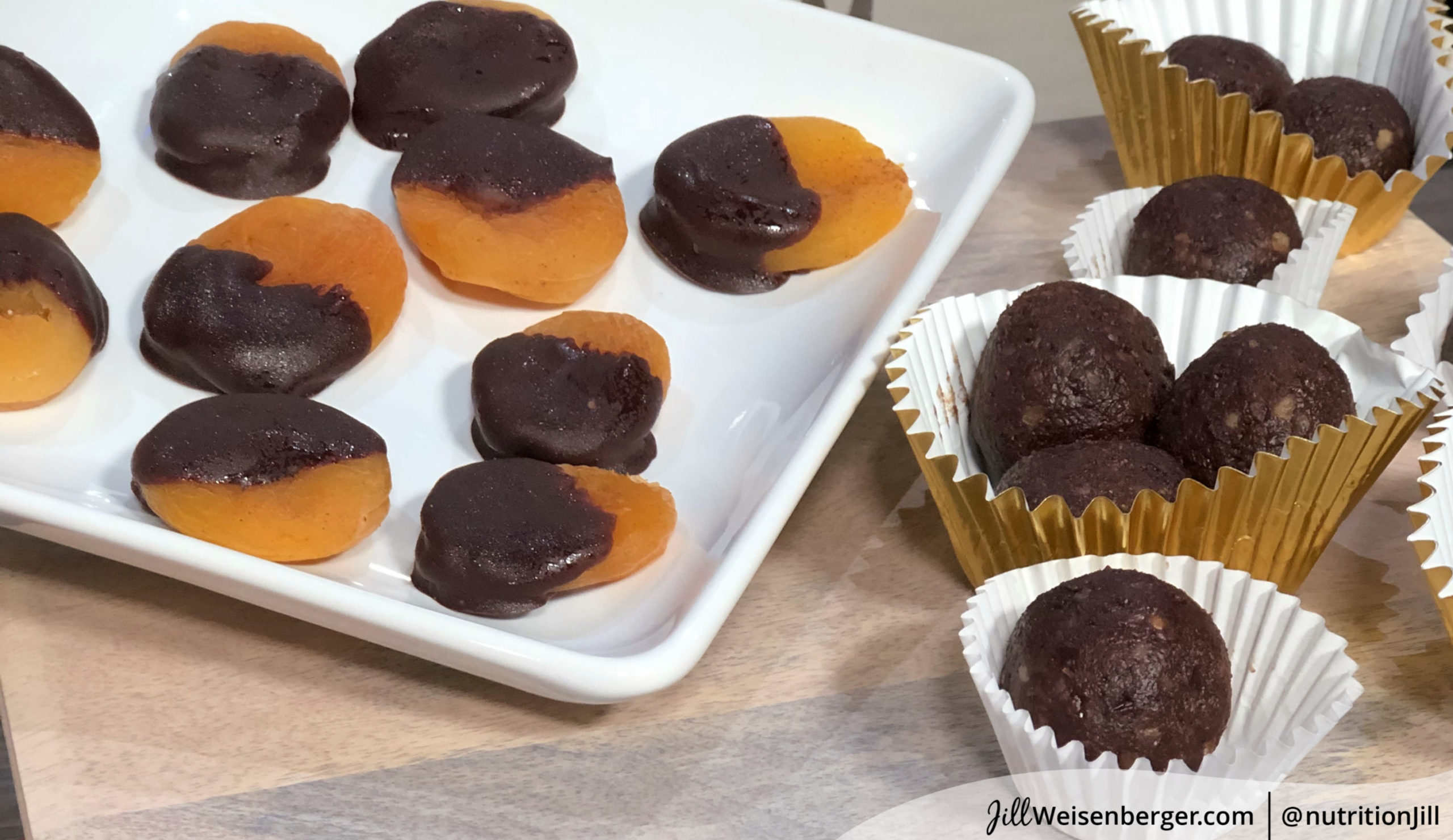 homemade healthy chocolates with fruit and nuts