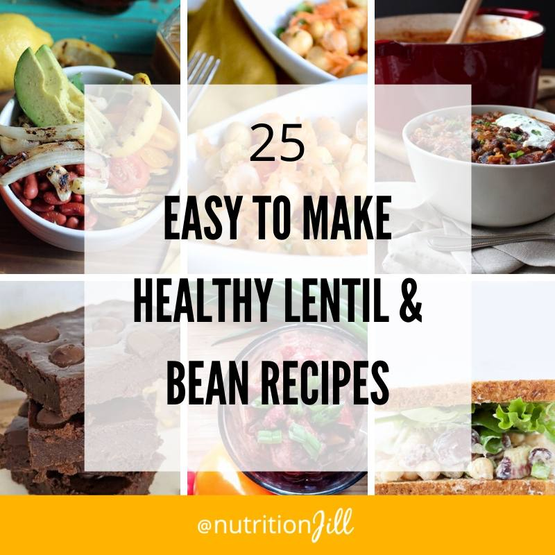 Lentil and Bean Recipes Roundup Collage Square