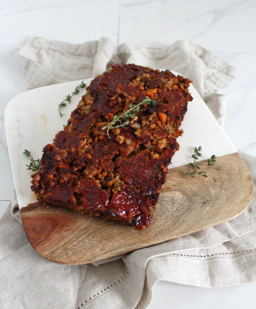 Vegan Lentil Loaf as part of healthy bean recipes roundup