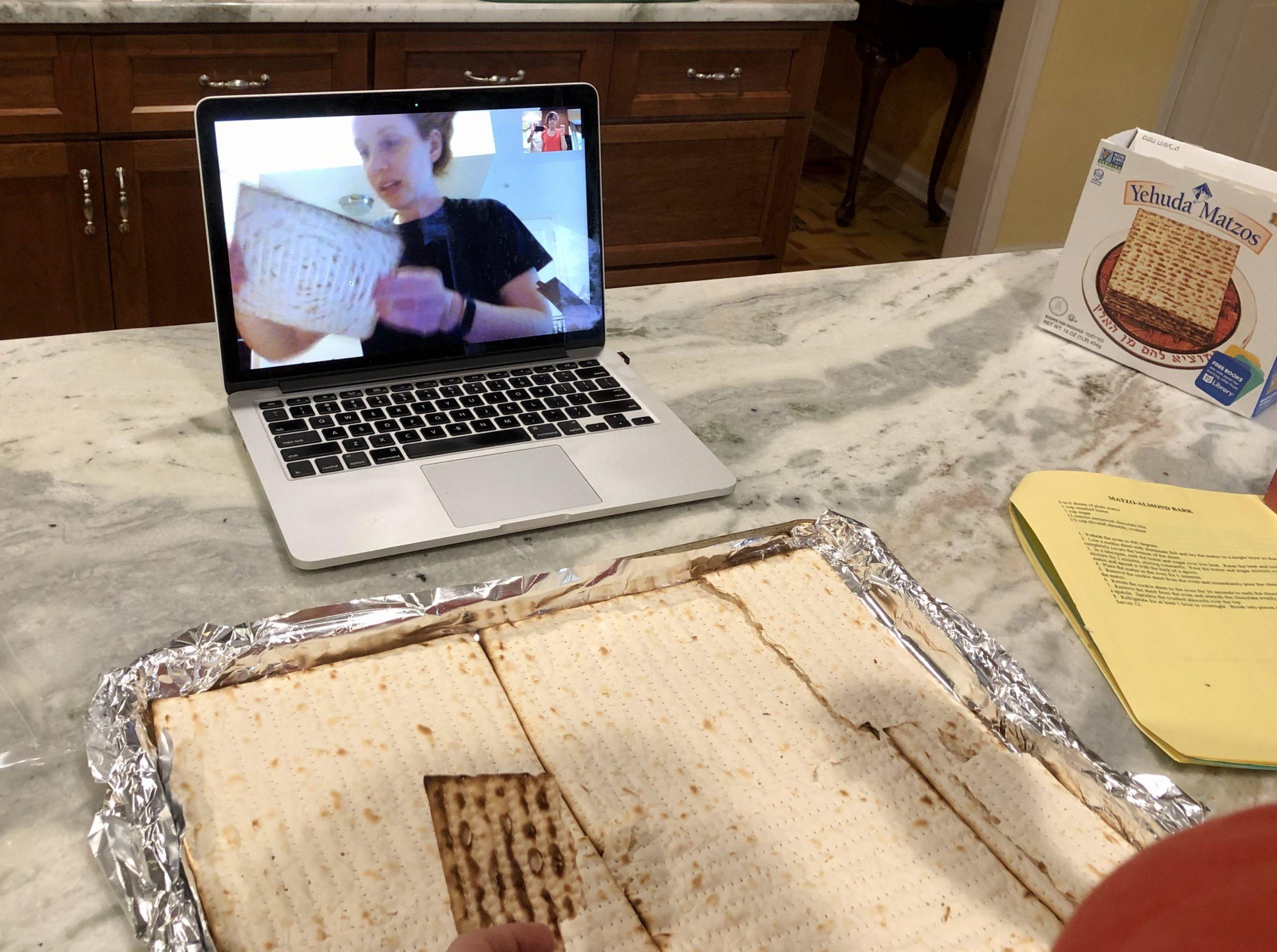Preparing a matozh recipe over FaceTime