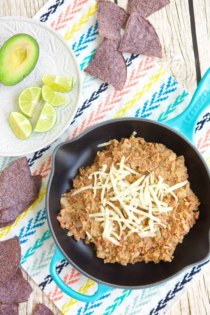 Vegan Refried Beans as part of healthy bean recipes roundup