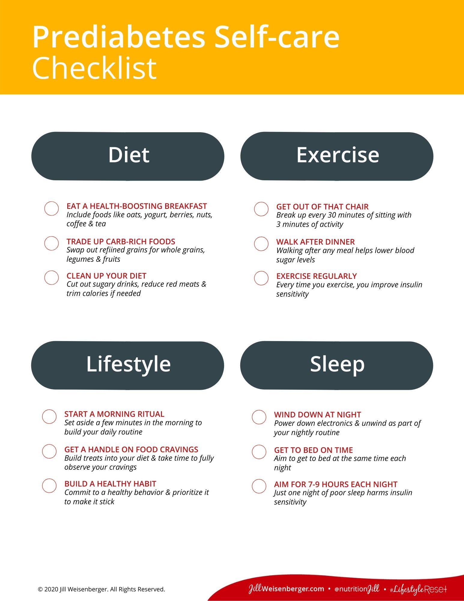 Jill-Weisenberger_Pre-diabetes-Self-care-Checklist