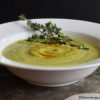 creamy zucchini soup with fresh thyme